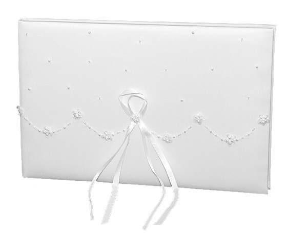 Gastenboek wave white