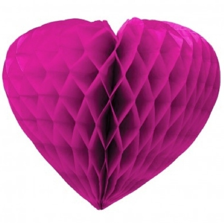 Honeycomb hart roze 37cm