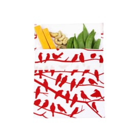Lunchskin Sandwich Bag Red Birdies