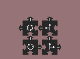 Waytoplay uitbreidingsset Crossing - Kruising 4 pieces