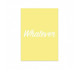 Studio Stationery Kaart Whatever