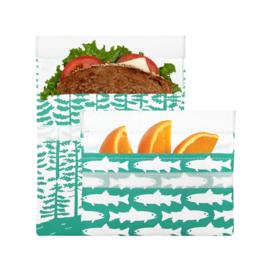 Lunchskin 2-pack bag set Calypso Forest