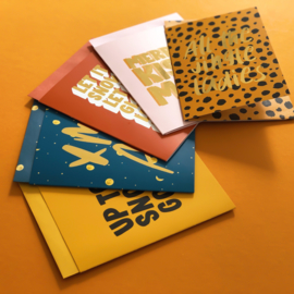 Studio Stationery Kaart Merry Kissmas