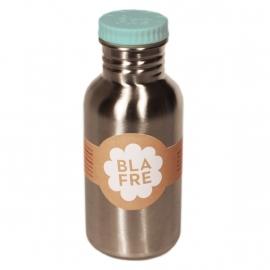 Blafre Stalen Drinkfles lichtblauw