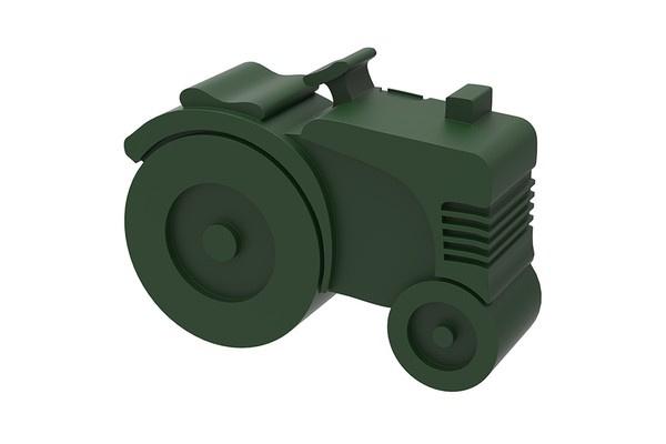 Blafre Lunchbox  Tractor legergroen