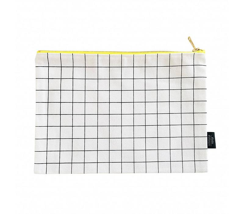 Studio Stationery Canvas bag Grid XL