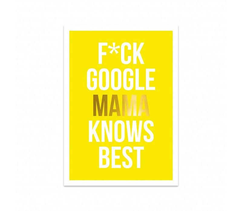 Studio Stationery Kaart Mama knows best