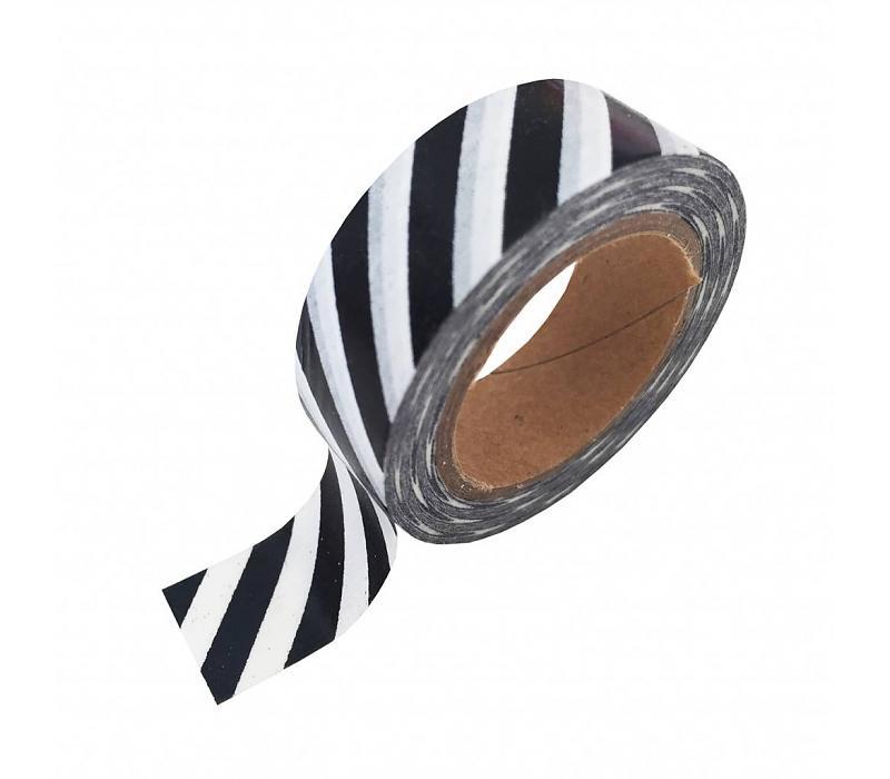 Studio Stationery Washi tape white black foil stripe