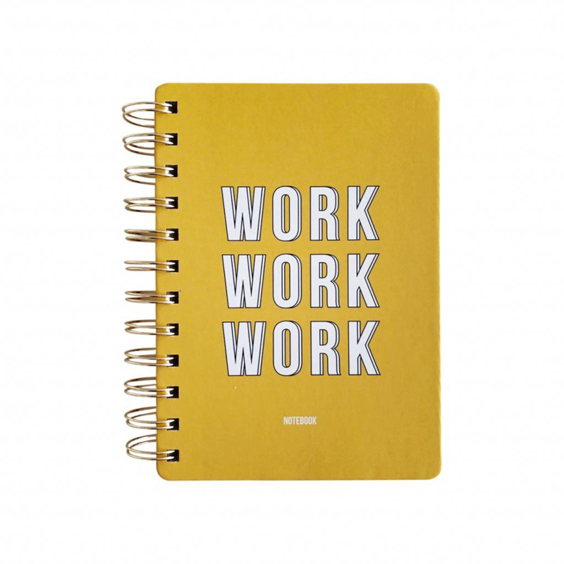 Notebook Work Work Work Yellow