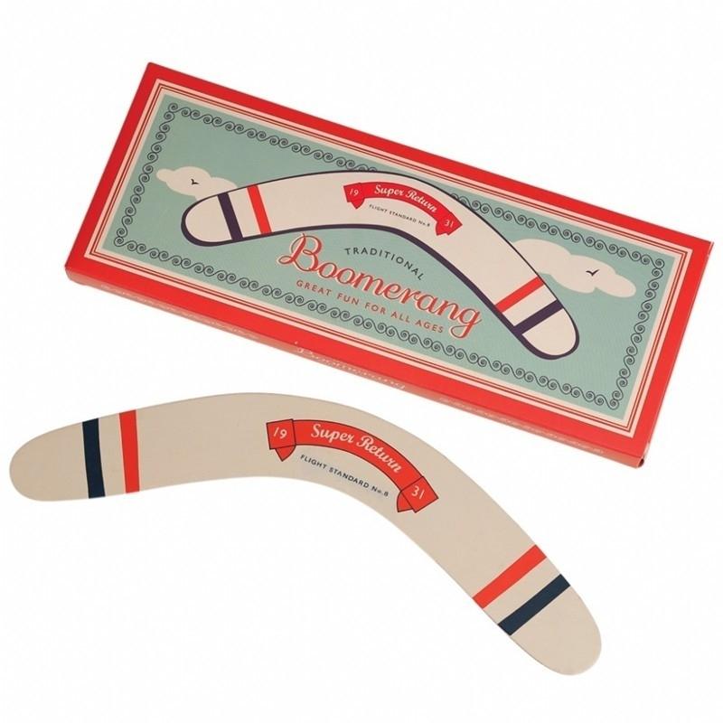 Retro Houten Boomerang