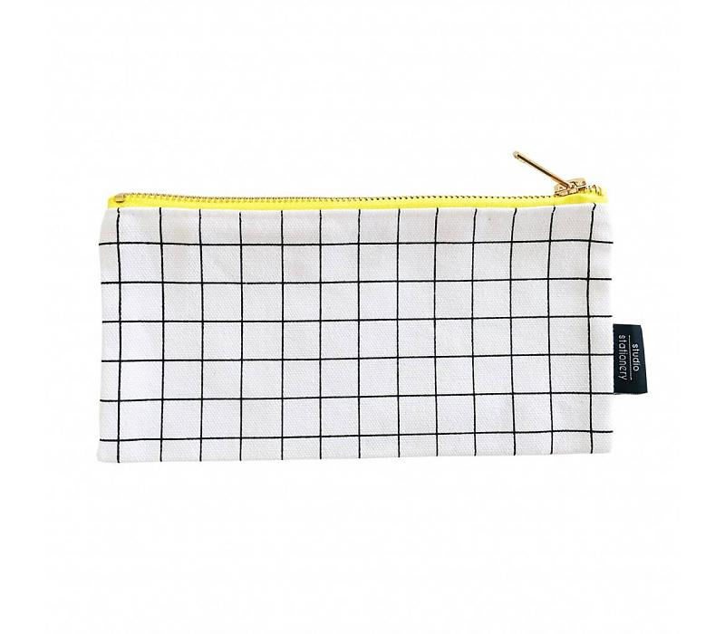 Studio Stationery Canvas bag Grid S