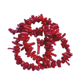 Bamboo coral chips - red