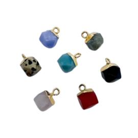 Natural Gemstones Cube