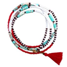 Wrap Bracelet Beads Bohemian Tassel