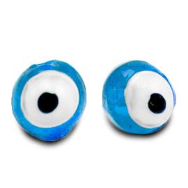 Evil Eye glassbeads - sky blue