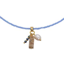 Necklace Miyuki Blue