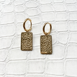 Square animal print - goud & zilverkleurig