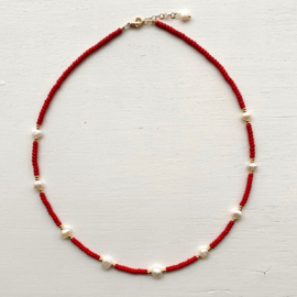 Necklace Red Pearl