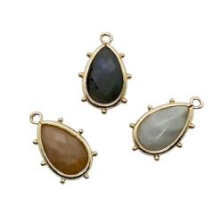 Natural Gemstones Pendant Teardrop