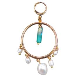 Earrings Pearl Gemstone Gold