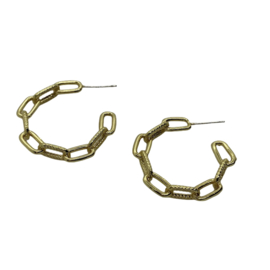 Textured Cable Chain Hoops
