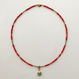 Necklace red & green