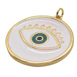 White Eye Gold Charm