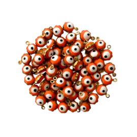 Flower Evil Eye Charm Orange