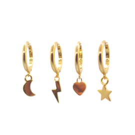 Nature Small Gold Earrings