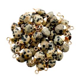 Dalmatian Jasper Gemstone Charm