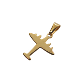Airplane Gold Charm