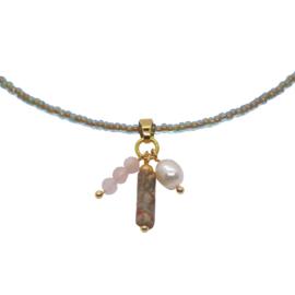Necklace Miyuki Jasper
