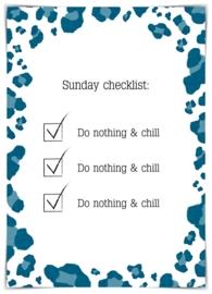 Sunday checklist