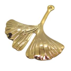 Ginkgo Leaf Gold Charm