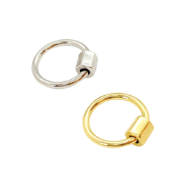 Round ring - platinum plated