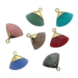 Natural Stones Triangle Pendant