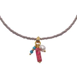 Necklace Miyuki Grey