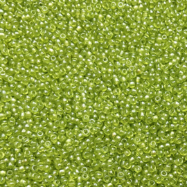 145 - Transparant Lime Green Luster - 9/0 & 11/0