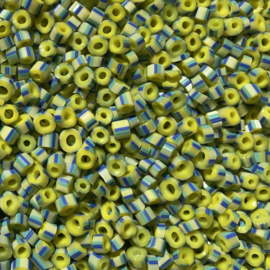 1119  - Yellow Blue Striped Tube - 5 - 6,5 mm
