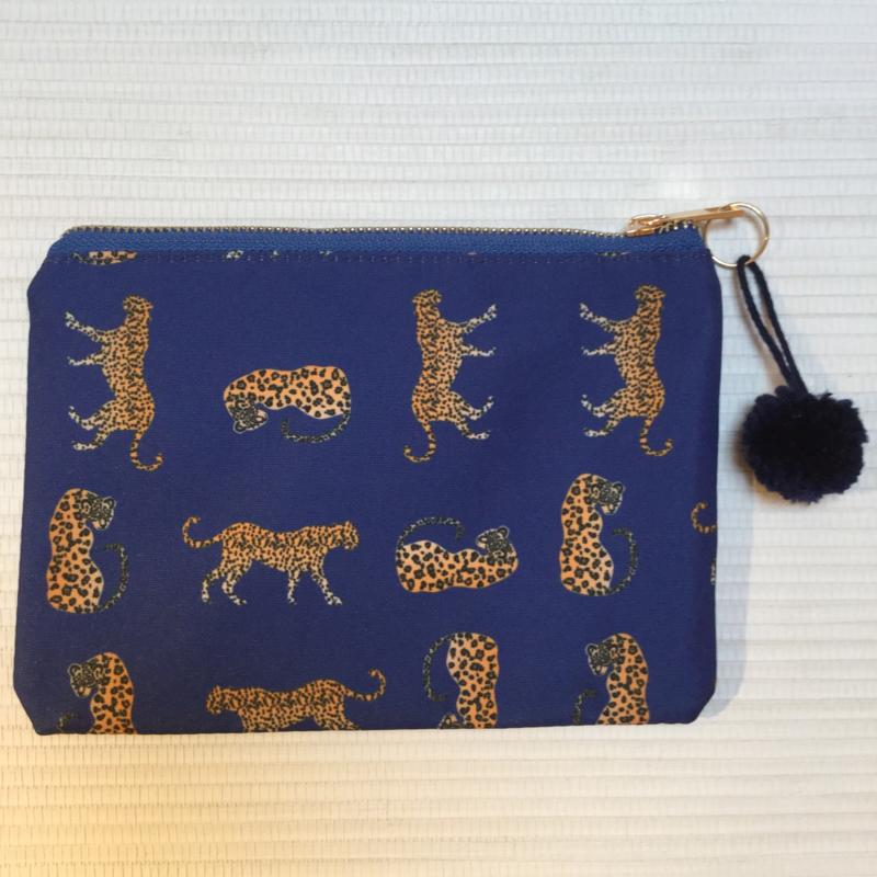 Tasje Luipaard blauw