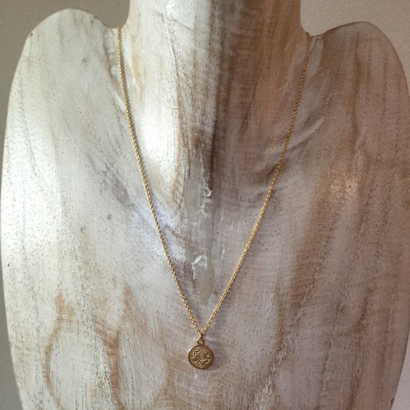 Necklace Sweet Coin - gold