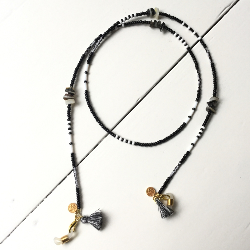 Sunny cord - black/silver