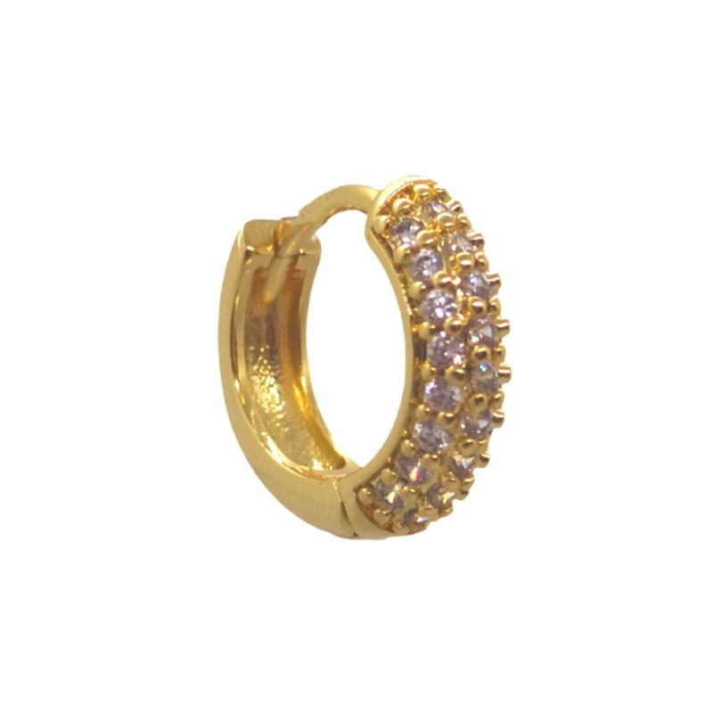Zirconia Gold Chunky Hoop