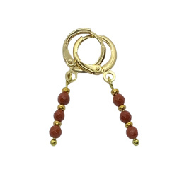 Earrings Red Jasper