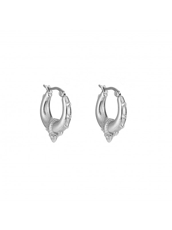 Bali hoops medium - silver
