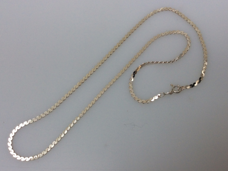 45 cm x 2,7 mm Zilvercollier Model Serpentina