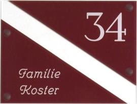 Gravoglas naambord 20x15 cm 4012