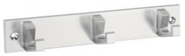 Kapstok Kris  aluminium 210mm 3 haaks,360mm 5 haaks