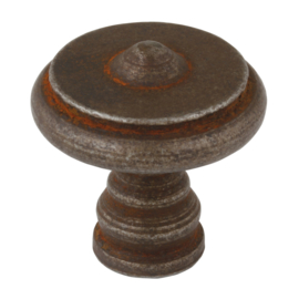 Meubelknop Toscaans 35*36 mm roest