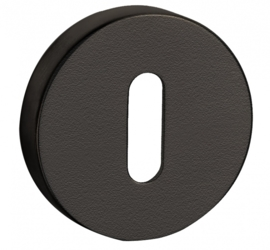 Sleutelplaatje convex mat zwart